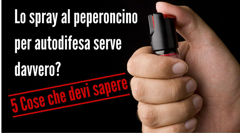 pepper spray per l'autodifesa